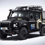 This Bespoke Land Rover Defender Has a Hearse-like Glass Rear Section to Display the Webb Ellis Cup