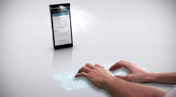 Lenovo Concept Smartphone Can Beam a Virtual Keyboard on the Desk for You to Type On