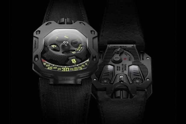 """URWERK UR-105 TA """"All Black"""" Watch"""