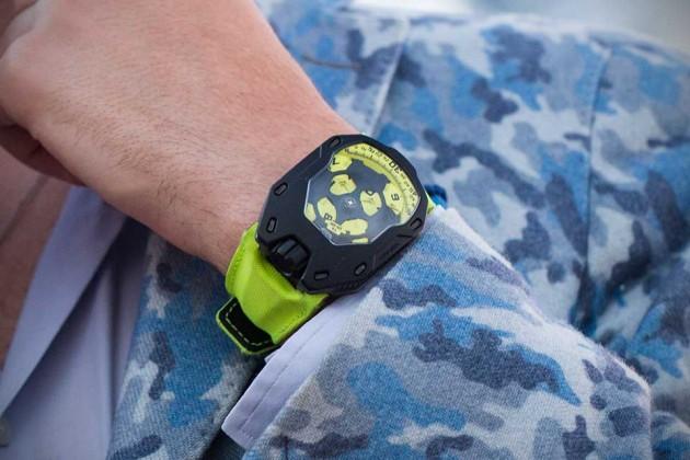 """URWERK UR-105 TA """"Black Lemon"""" Watch"""