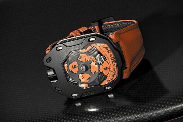"""URWERK UR-105 TA """"Black Orange"""" Watch"""