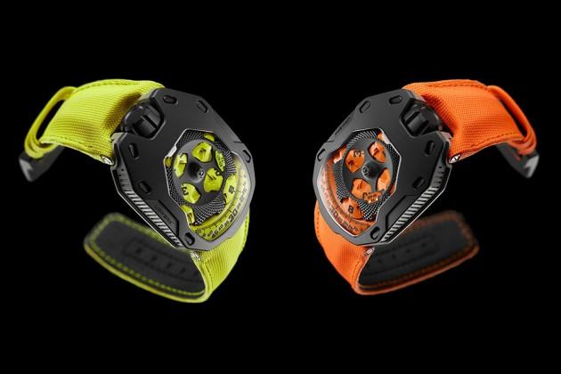 "URWERK UR-105 TA ""Black Orange"" and ""Black Lemon"" Watches"