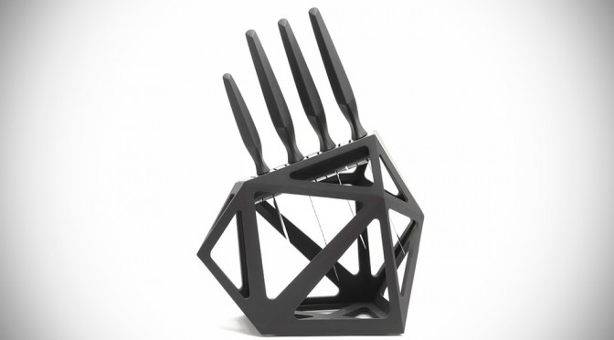 Here's a Knife Block That is Worthy of Any Contemporary Kitchen Setup