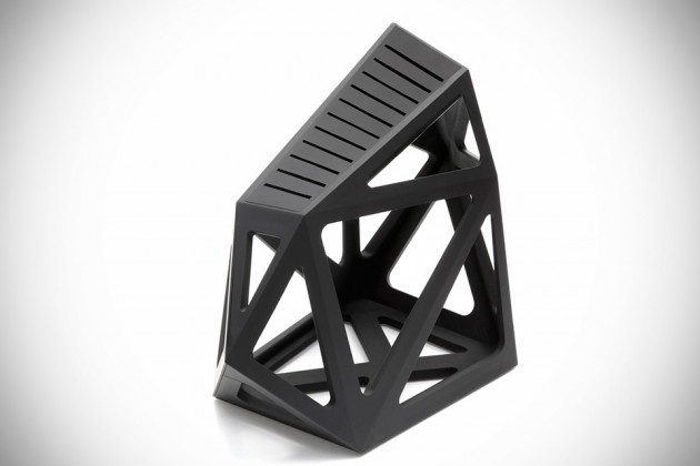 Black Diamond Knife Block by Edge of Belgravia
