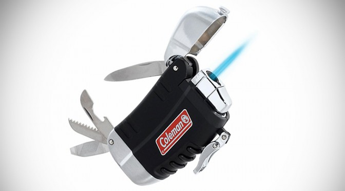 Coleman Multi-tool Lighter is a Windproof Mini-Torch Slapped with Four Other Functions