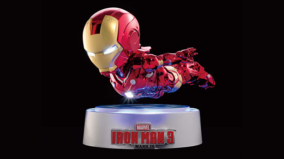 with LED Light Action Figure Collection Toys IRON MAN MK MAGNETIC FLOATING ver