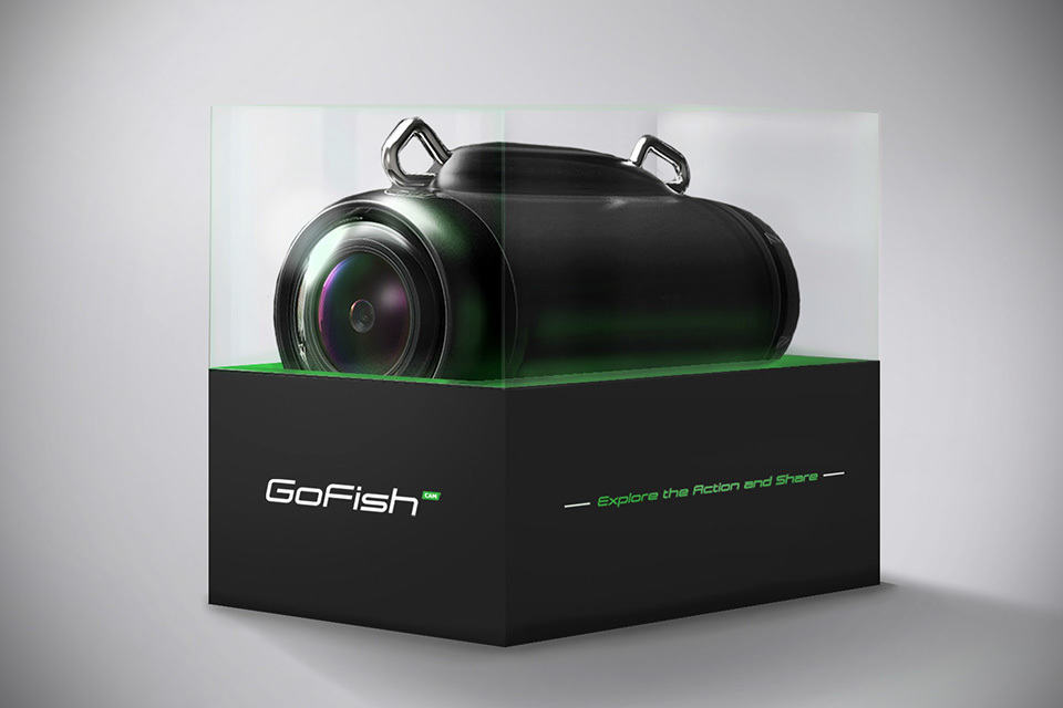 Gofish cam captures your fishing action at the line s for Fishing line camera