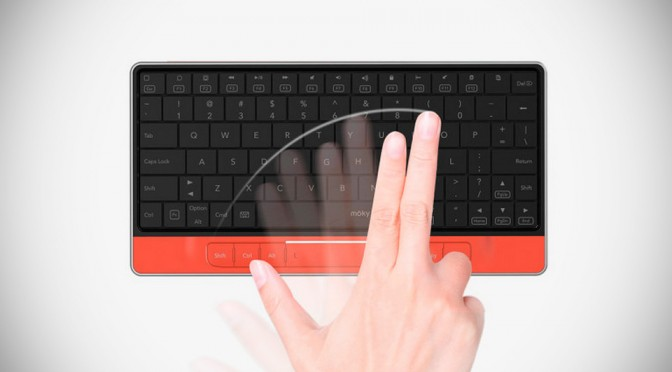 Moky is a Multi-platform Bluetooth Keyboard Where the Keyboard is a Big-ass Touchpad