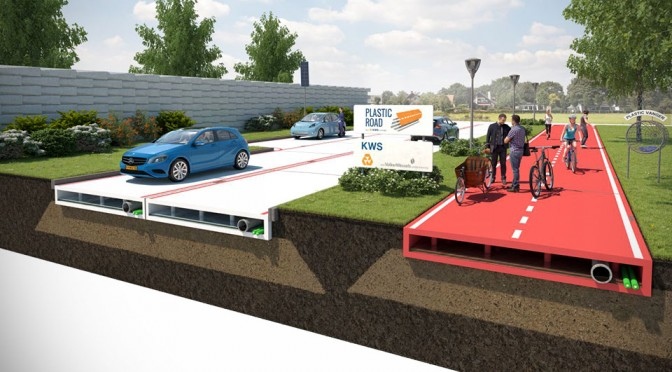 In Near Future, We Could Be Walking and Driving on Plastic Roads