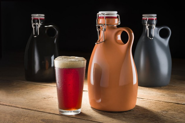 Stoneware Growler by Orange Vessel