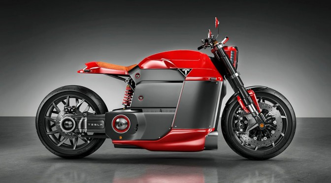 Tesla Model M Concept Electric Motorcycle by Jans Slapins