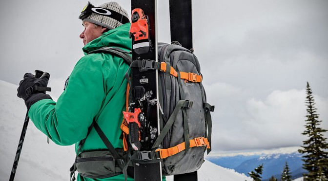 You Can Carry Skis with the Lowepro Whistle Series Photo Backpack Too