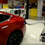 Tesla's 'Solid Metal Snake' Charger is Real, Automatically Move and Plug Itself to Start Charging