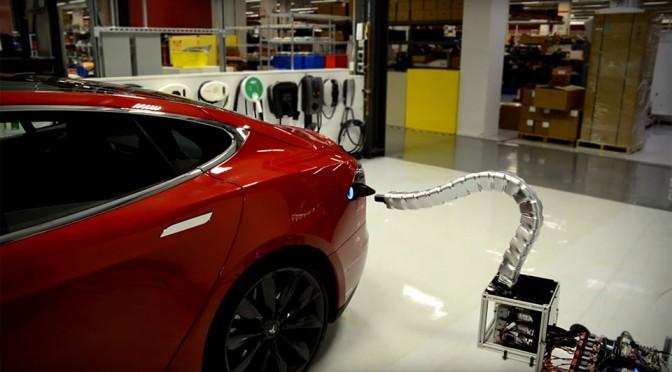 Tesla 'Solid Metal Snake' Charger