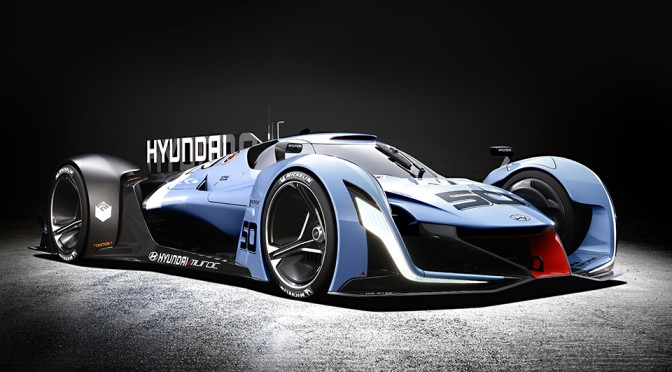 Hyundai Joins Playstation's Vision Gran Turismo with 871HP Hydrogen Fuel-cell Concept Race Car