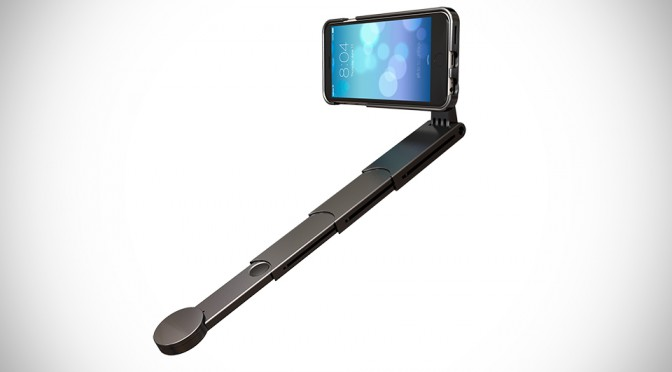 snapstyk iphone case has a slick 11 inch selfie stick built into it mikeshouts. Black Bedroom Furniture Sets. Home Design Ideas