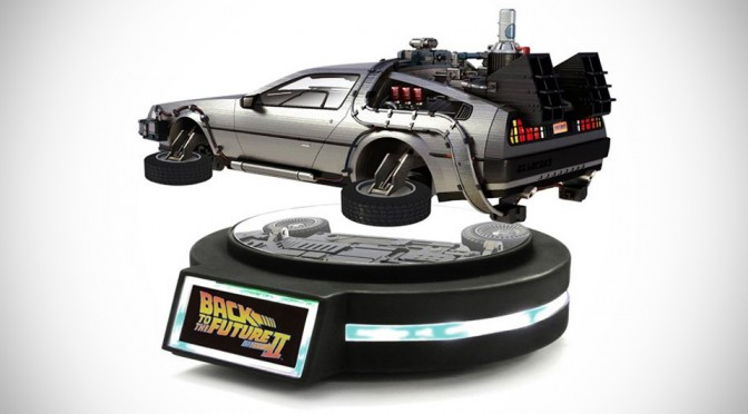 Yay! Hovering DeLorean Time Machine is Real, Albeit in 1/20th Scale