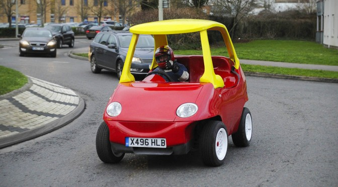 "Grown Ups' Road-legal ""Little Tikes"" Car is Up for Sale on eBay"