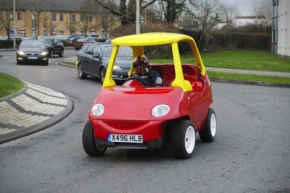 grown ups road legal little tikes car is up for sale on ebay mikeshouts. Black Bedroom Furniture Sets. Home Design Ideas