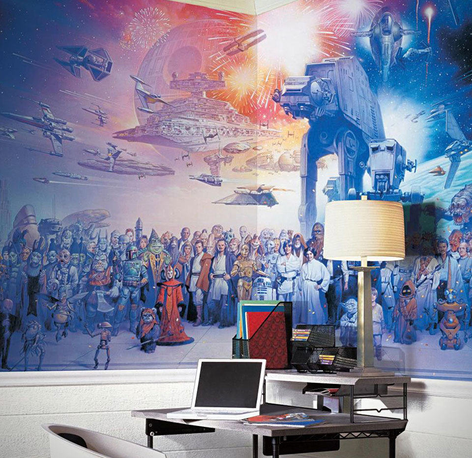 This Massive Star Wars Cast Wallpaper Mural Has Every Character From All Six Movies In It Shouts