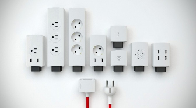 Modular Customizable Power Strip by Casitoo