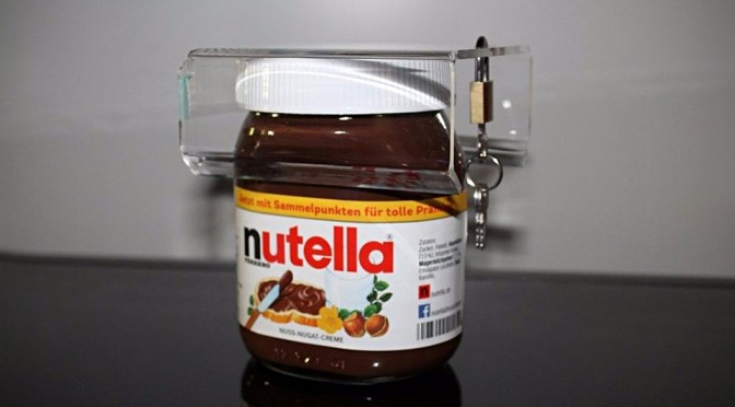 You Can Stop Nutella Thieves with This Nutella Jar Lock