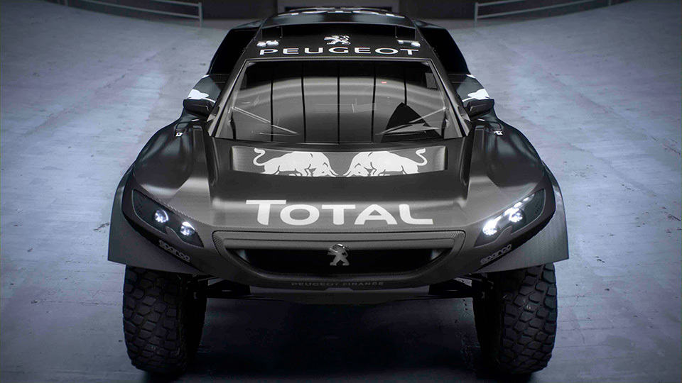 2016 peugeot dakar rally car is bigger lower more. Black Bedroom Furniture Sets. Home Design Ideas