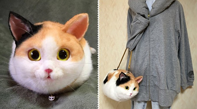 Japanese Handmade Cat Bag is Incredibly Life-like and Adorable