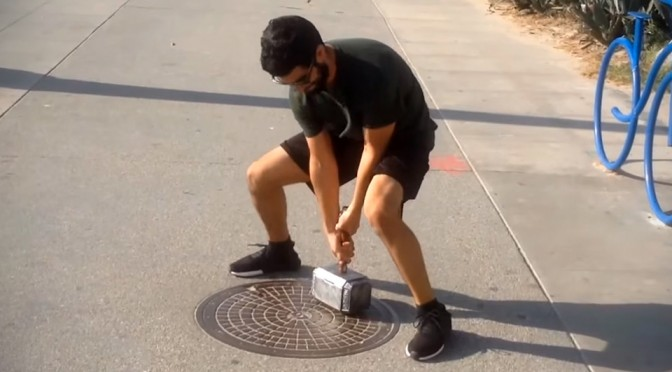 Engineer Builds Thor's Mjolnir That Only He Who is Worthy Can Lift
