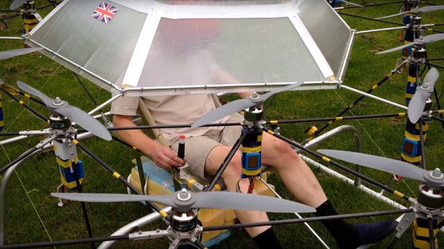 Swarm Manned Aerial Vehicle Multirotor Super Drone
