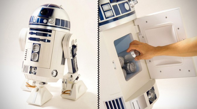 This Life-size R2-D2 is Actually a Mini Fridge and a HD Projector in Disguise