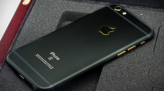 Custom Black Matte iPhone 6s by HautePhones