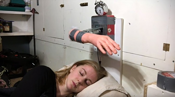 Face-slapping Alarm Clock by Simone Giertz