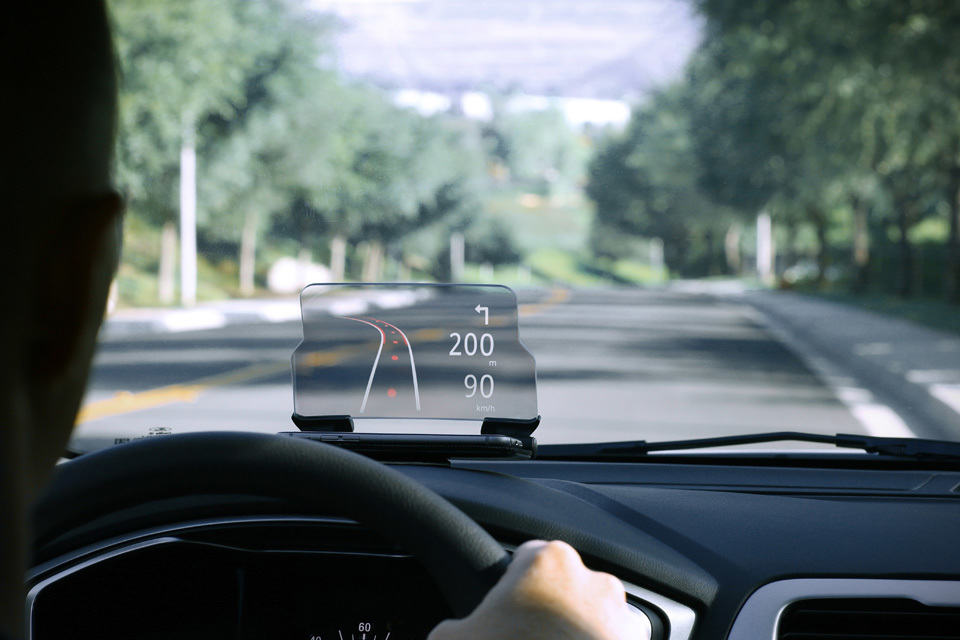 hudway glass leverages on your smartphone to add head up display to your vehicle mikeshouts. Black Bedroom Furniture Sets. Home Design Ideas