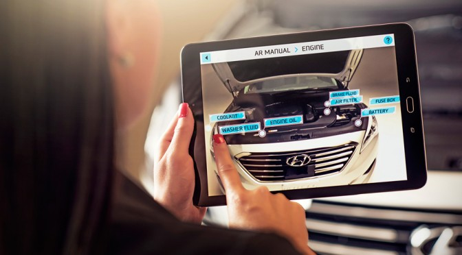 Hyundai Augment Reality Owner's Manual Will Teach You How to Check Engine Oil Level