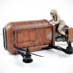 The Model Maker Creates A Real Flying, Quadcopter-based Rey's Speeder