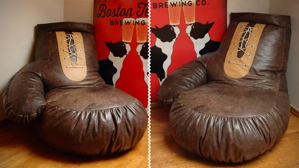 Leather Boxing Glove Bean Bag Is The Ultimate Way To Show