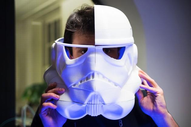 3D Printed Life-size Stormtrooper Helmet