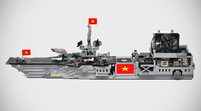 This Hulking LEGO Aircraft Carrier Is Actually A Personal Computer