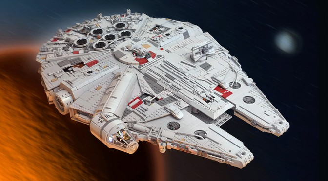 Custom LEGO Millennium Falcon Made LEGO UCS Set Looks Puny