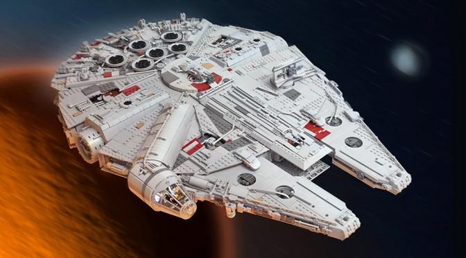 Custom LEGO Millennium Falcon Made LEGO UCS Set Looks Puny