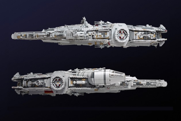 Custom LEGO Millennium Falcon by Marshal Banana