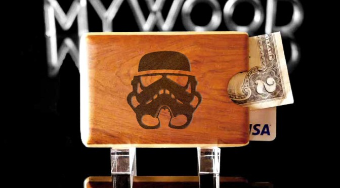 Engraved Wood Wallet by My Wood Wallets - Stormtrooper
