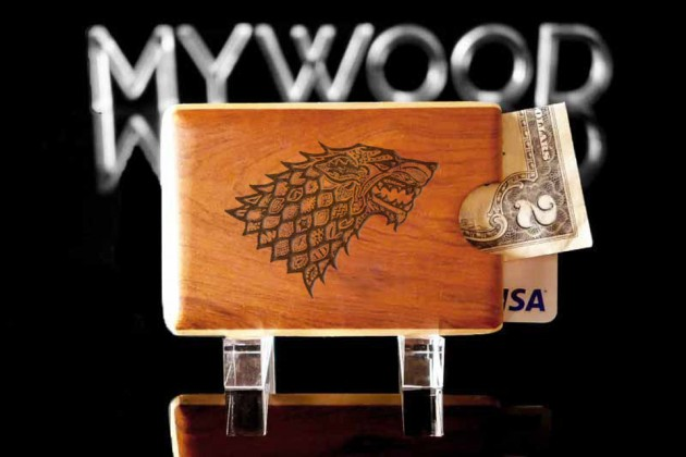 Engraved Wood Wallet by My Wood Wallets - GoT House Targaryen