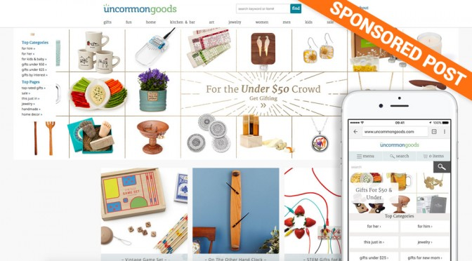 Uncommongoods: Gifts From Responsible And Sustainable Sources