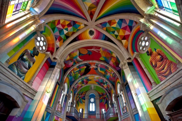 "KAOS Temple ""Skate Church"" by Okuda"