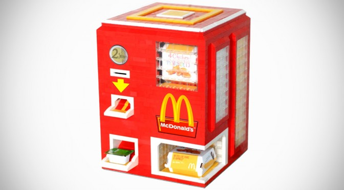 Teen Built A Vending Machine For Chicken McNuggets Made Entirely From LEGO Bricks