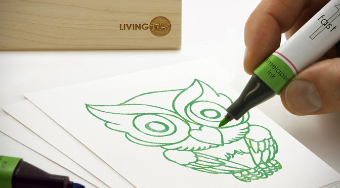 Living Algae Ink Makes Your Artwork Appears Days Later And In Stages
