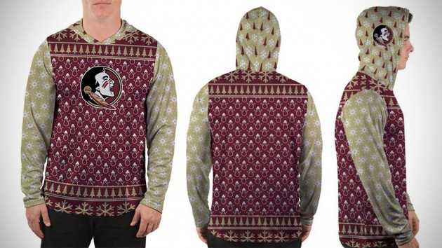 Made Royal Collegiate-themed Ugly Christmas Sweaters - Florida State University
