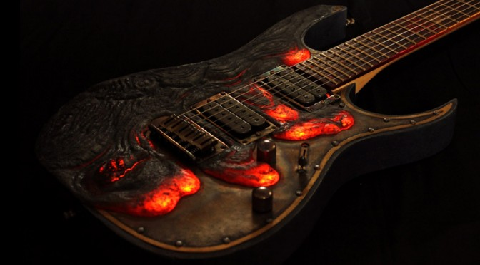 Molten Diabolic Guitar by Hutchinson Guitar Concepts